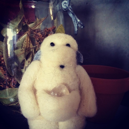 Sculpture laine cardée